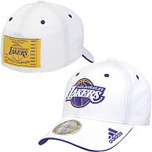 Weiß Fitted Hat Cap (adidas NBA Los Angeles Lakers 16X Champions Fitted Hat Cap für Erwachsene, Weiß, weiß, X-Large)