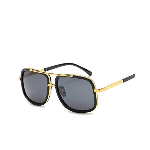 Sportbrillen, Angeln Golfbrille,Oversized Men Sunglasses Men Luxury Brand Women Sun Glasses Square Male Gafas De Sol Female Sunglasses For Men Women 1-Black-Gray