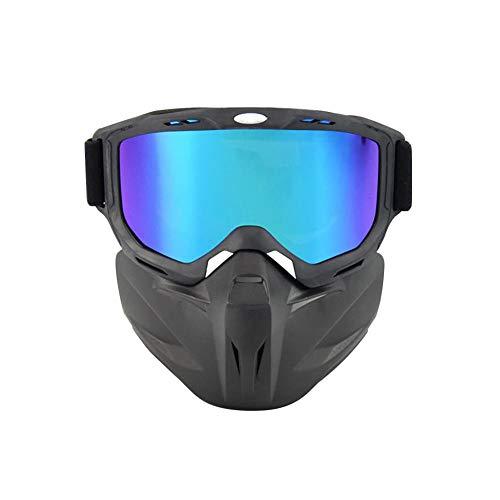 Brille Stretch winddicht leichte bequeme warme Brille Mundfilter Motorrad Helm Reitbrille
