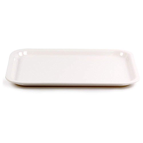 YHBH Put The Cup Trays Tea Tray Cup Dish Rectangle Plastic European Style Living Room Home Creative Modern Style (Size : 45 * 34 * 2.5cm)