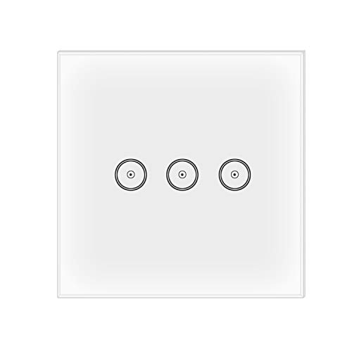 Jinvoo Smart WiFi Smart Wall Switch 1 gang EU Switch Panel Compatiable with Alexa Echo or Works with Google Home -
