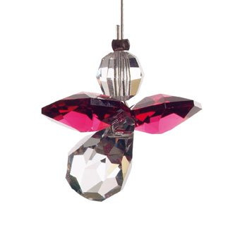 Schutzengel mit swarovski kristallen angelo custode rubin