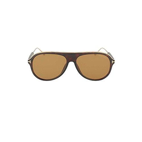 Tom Ford Unisex-Erwachsene FT0624 52E 57 Sonnenbrille, Braun (Avana Scura/Marrone),