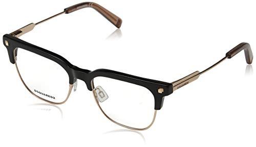 Dsquared2 dq5243, occhiali da sole unisex-adulto, (nero lucido), 49.0