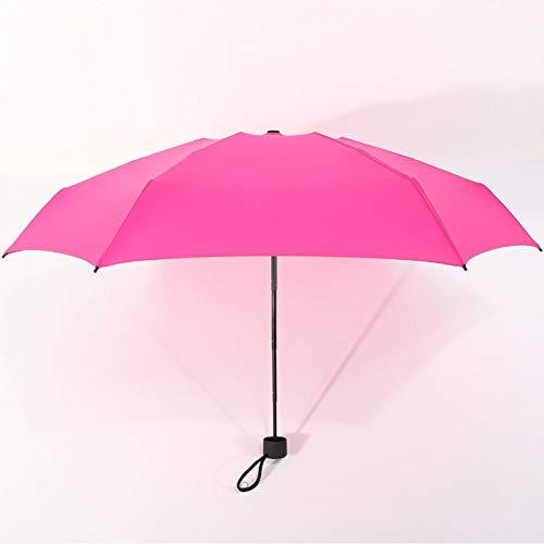 SHILILI Mini Taschenschirm Frauen Uv-Schutz Regenschirm 180G Regenfest Frau Wasserdicht Herren Sonnenschutz Regenschirm Praktische Mädchen Travel Pack