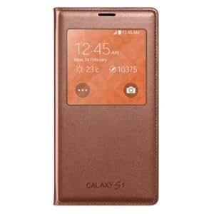 Etui Samsung Galaxy S5 G900 / EF-CG900BF rose doré avec zone transparente