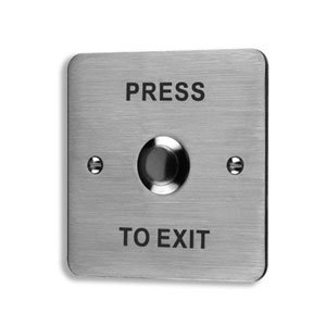 Push to Exit Lock Release Button, Illuminated, Stainless Steel, ESP EV-EXIT