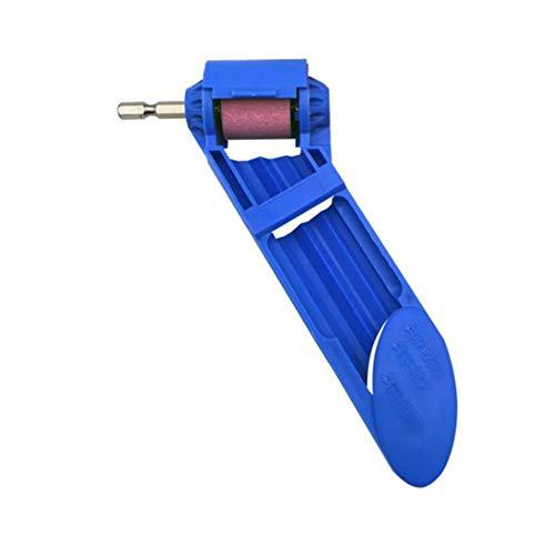 Bohrer Schärfgerät Tragbares Bohrwerkzeug Bohrerschleifer Grinding Wheel Drill Bit Sharpener (Blue) -