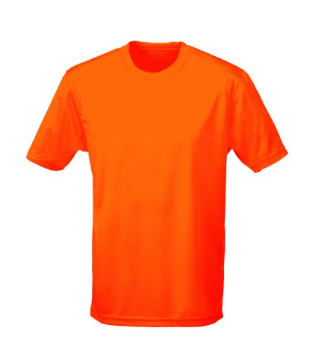 Just Cool - Performance T-Shirt, atmungsaktiv Elektrische Orange