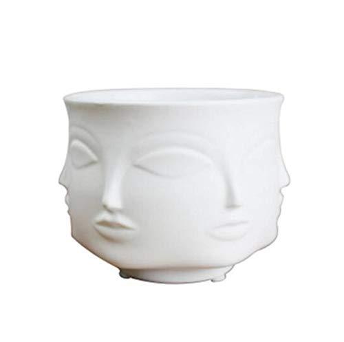 hotmoment-uk-vases Mann Gesicht Blumenvase Home Dekoration Zubehör Moderne Keramik Vase für Blumentöpfe Blumentöpfe weiß (Ikebana-keramik-vasen)