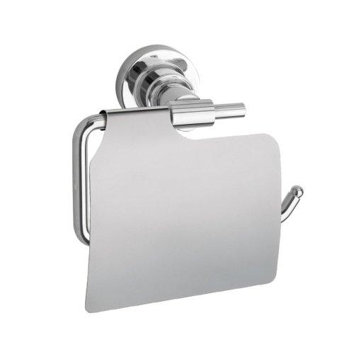 Nie wieder bohren LU236 Moon - Porta carta igienica con coperchio in acciaio INOX, 14 (Metallo Acciaio Testata)