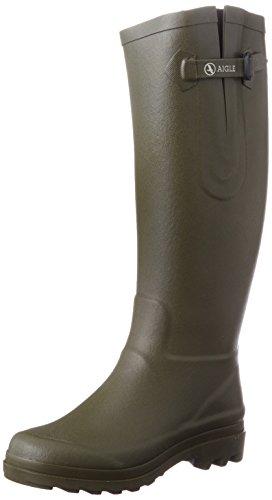 Aigle-Aiglentine-Gummistiefel-85877-Damen-Ungefttert-Gummistiefel-Langschaft-Stiefel-Stiefeletten-Grn-Kaki-39-EU