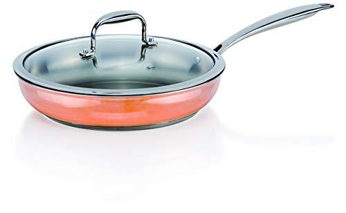 Zócalo Original Genius copperfit Emotion–Sartén, Set 2piezas., diámetro 28cm cobre acero inoxidable Nuevo