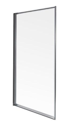 Aqualux Badewannentrennwand, mit Rahmen, perlfarben/transparent