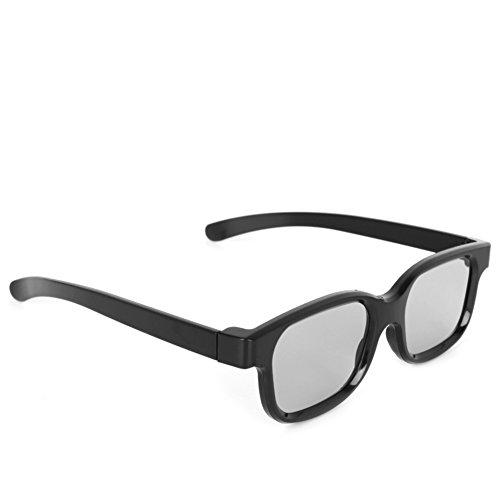 ZOUCY Gafas 3D pasivas polarizadas H3 Negro cines