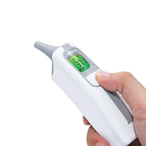 JY Berührungsloses digitales Thermometer Baby-Ohr-Thermometer Thermometer Haushalt Kinder Elektronisches Thermometer Medizinisches Infrarot-Thermometer Fieber Warnung (weiß)