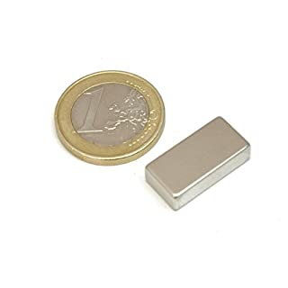 AimanGZ block-Neodym-magnet, 20 mm x 10 mm x 5 mm, 10 Stück