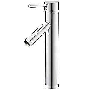 Bonade), mezclador de lavabo cromado grifo sola manija lavabo agua fría y caliente baño cocina grifo