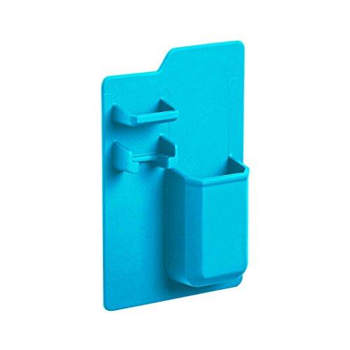 tianranrt Silikon Mighty Zahnbürste Körbe Caddy Badezimmer Organizer Storage Space Rack Halter für Rasierer Zahnbürste Zahnpasta blau (Dusche Caddy Silikon)