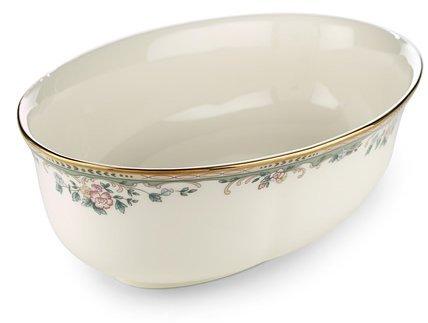 Lenox Spring Vista Gold Banded Ivory China Open Vegetable Bowl by Lenox Lenox China Open Vegetable Bowl