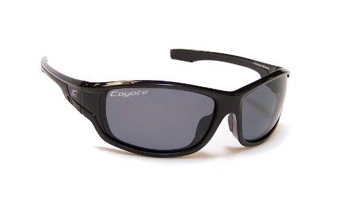 Coyote Eyewear LS Performance Polarisierte Sonnenbrille, Damen Unisex Herren, schwarz/grau