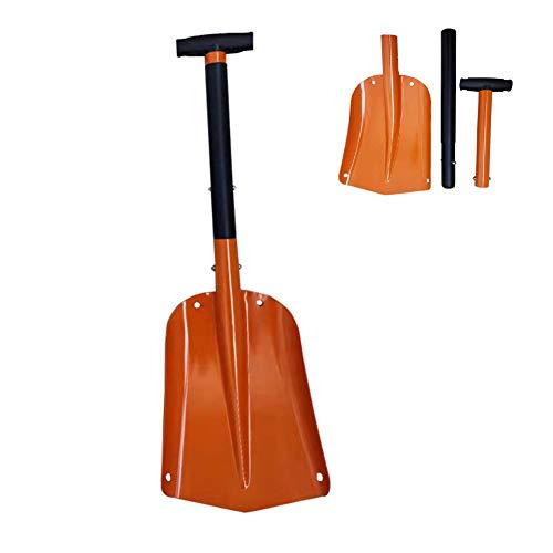 Yipianyun Schneeschaufel Aluminiumlegierung,Klappspaten,Stahl Mini Schaufel Spitzhacke Für Garten Und Camping Wandern Backpacking Angeln,Orange