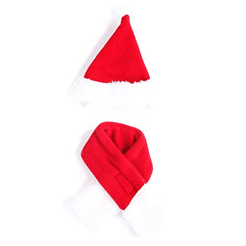 (BIKITIQUE Haustier-Katze-Hundehut-Kopfschmuck-Schal-Mantel kleiden Oben Jahr-Mantel-Weihnachtswarme Kleidung an)