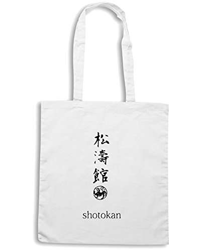 T-Shirtshock - Borsa Shopping TAM0164 shotokan version 1 hooded sweatshirt Bianco
