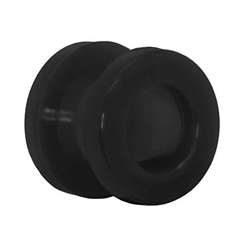 tumundo 1 piezza Flesh Tunnel Plug Piercing Oreja Negro BLanco Ø 2-10 mm Expansor Dilataciones Dilatador, Farbe2:schwarz/black/noir - 10mm