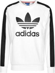 adidas Herren Berlin Crew Sweatshirt Weiß - (BLANCO)