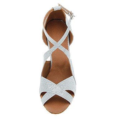 Scarpe da ballo - Disponibile su misura - Donna - Latinoamericano / Salsa - Customized Heel - Glitter - Nero / Rosso / Argento / Oro Black