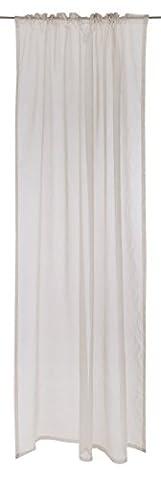 Vallila CT001760-6 Hymy Vorhang Baumwoll-Mischgewebe Beige 140 x 250