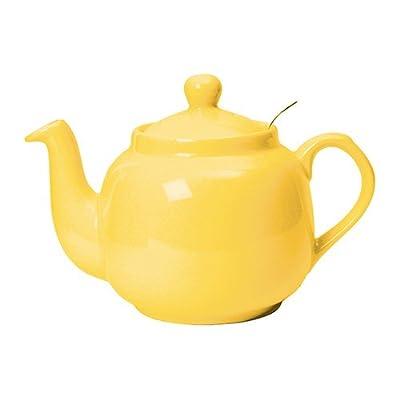 Théière en céramique avec filtre inox 1,5L jaune - FARMHOUSE - Bruno Evrard