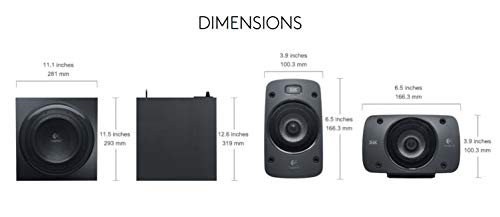 Logitech Z906 Stereo Speakers 3D 5.1 Dolby Surround Sound, THX, 1000 W, Ideal For TV and Living Room Img 4 Zoom