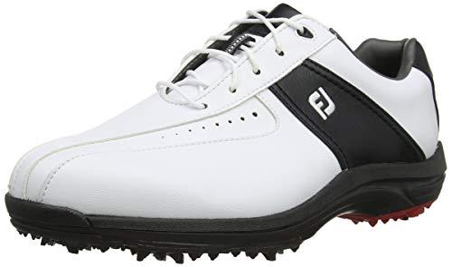 Footjoy GreenJoys Scarpe da Golf Uomo, Bianco (Blanco/Negro 45300) 45 EU