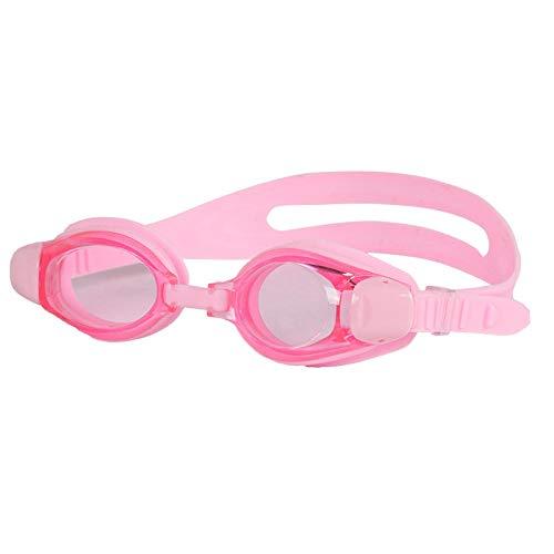 YHYZ SchwimmbrilleHD wasserdichter, beschlagfreier und UV-beständiger Verstellbarer Kopf mit Brillenausrüstung, geeignet für Erwachsene Männer und Frauen, pink
