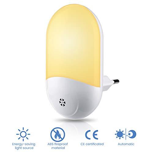 Elfeland LED Nachtlicht Steckdose Nachtlichter mit Dämmerungssensor Nachtlampe Kinder Nachtleuchte Baby Licht Schlummerleuchte Stimmungslicht für Kinderzimmer Schlafzimmer Gang Warmweiß