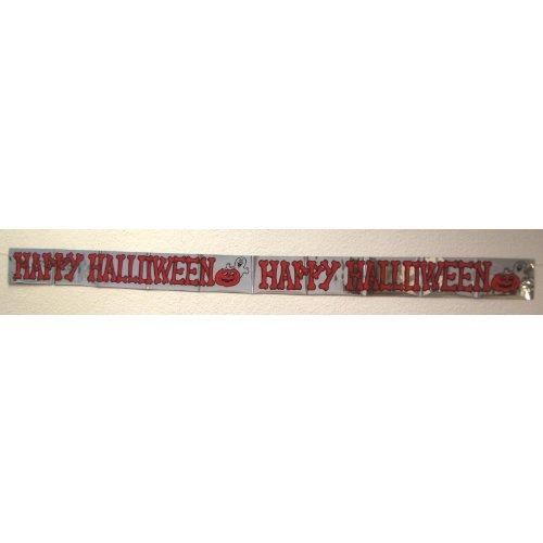 Everflag Schriftband Happy Halloween 1,8m lang, Wetterfest