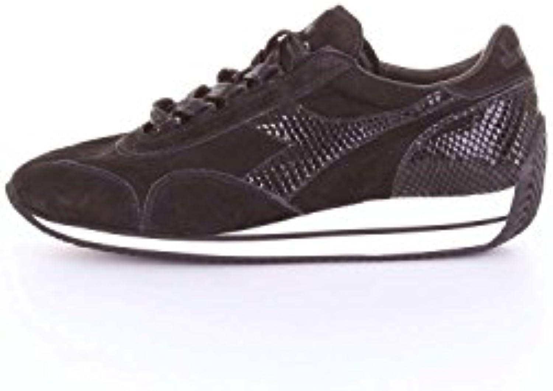 Diadora Heritage, Donna, Equipe W Reptile, Suede, Suede, Suede, scarpe da ginnastica, Nero, 38.5 EU | Design lussureggiante  b6ba5e