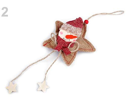 1stück 2 Leinenfarbe Natürlich Schneemann Weihnachten Jute Dekoration Schneemann, Rentier, Andere Weihnachtsdeko, Weihnachtsdekorationen (Winter-kranz Sackleinen)