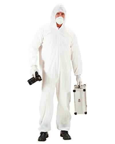 Kostüm Investigator - Horror-Shop Tatort Ermittler Kostüm für Männer mit Overall, Mundschutz & Handschuhe M/L