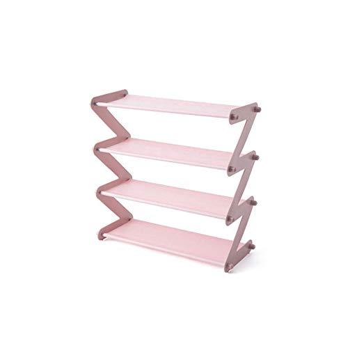 PKWEHKG Einfache Edelstahl montiert Schuh Rack sparen Platz Hausschuhe High Heels Home Dormitory Faltbare Multi-Layer-Lagerung -