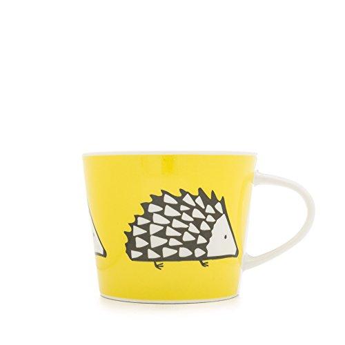 Scion Spike - Taza pequeña (Porcelana), diseño con Erizo, Color Negro y Amarillo