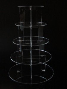 Classikool 5 Tier Circle Acrylic Cup Cake Party Wedding Stand