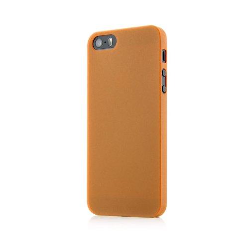 Original QUADOCTA® Tenuis Case für das iPhone SE / 5s / 5 in schwarz aus Polypropylen ULTRA SLIM 0,35mm Orange