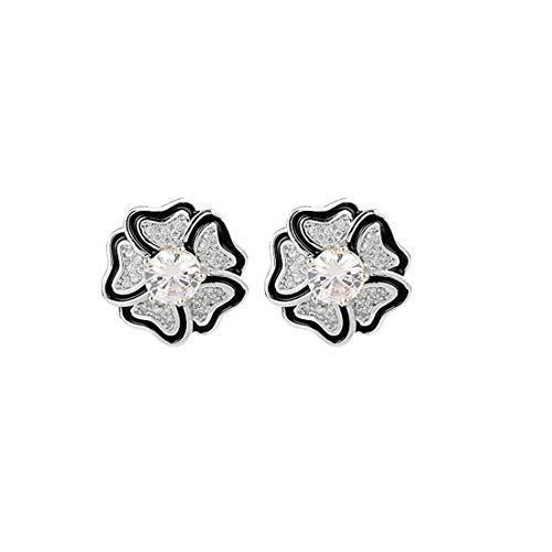 Fliege MÄNNER Kreative Neue Ohrringe Mode Fünf-Blütenblatt Design Tropf Ohrringe S925 Sterling Silber Nadel Hypoallergen Ohrringe Schmuck - Weiblichen Heiligen Kostüm