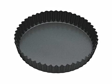 Master Class Non-Stick Fluted Flan Tin/Quiche Pan with Loose Base, Black, 20 cm (8 inch)