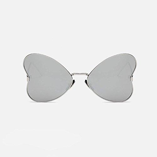 MWPO Polarisierte Sonnenbrille New Women 's Butterfly Style im freien Fahren straße pat Fotografie Brille (Farbe: Silber Rahmen Wasser Silber objektiv)