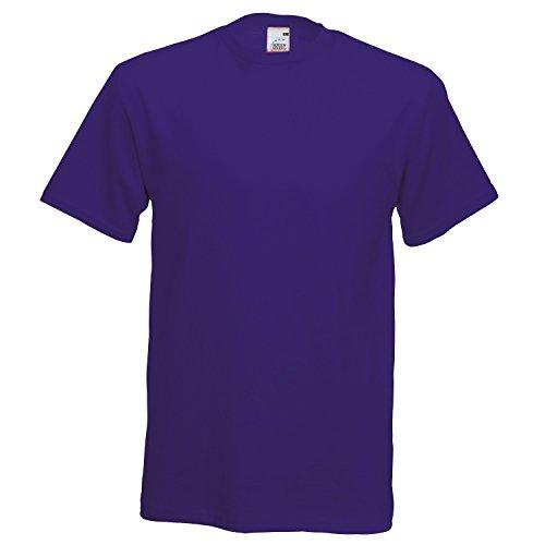 Fruite of the Loom Original T-Shirt aus Baumwolle, vers.Farben XX-Large,Purple