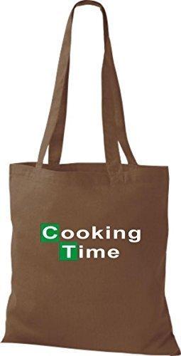 Borsa di stoffa Cooking VOLTA CUCINARE? Marrone chiaro